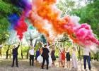 Цветной дым для свадьбы в Череповце